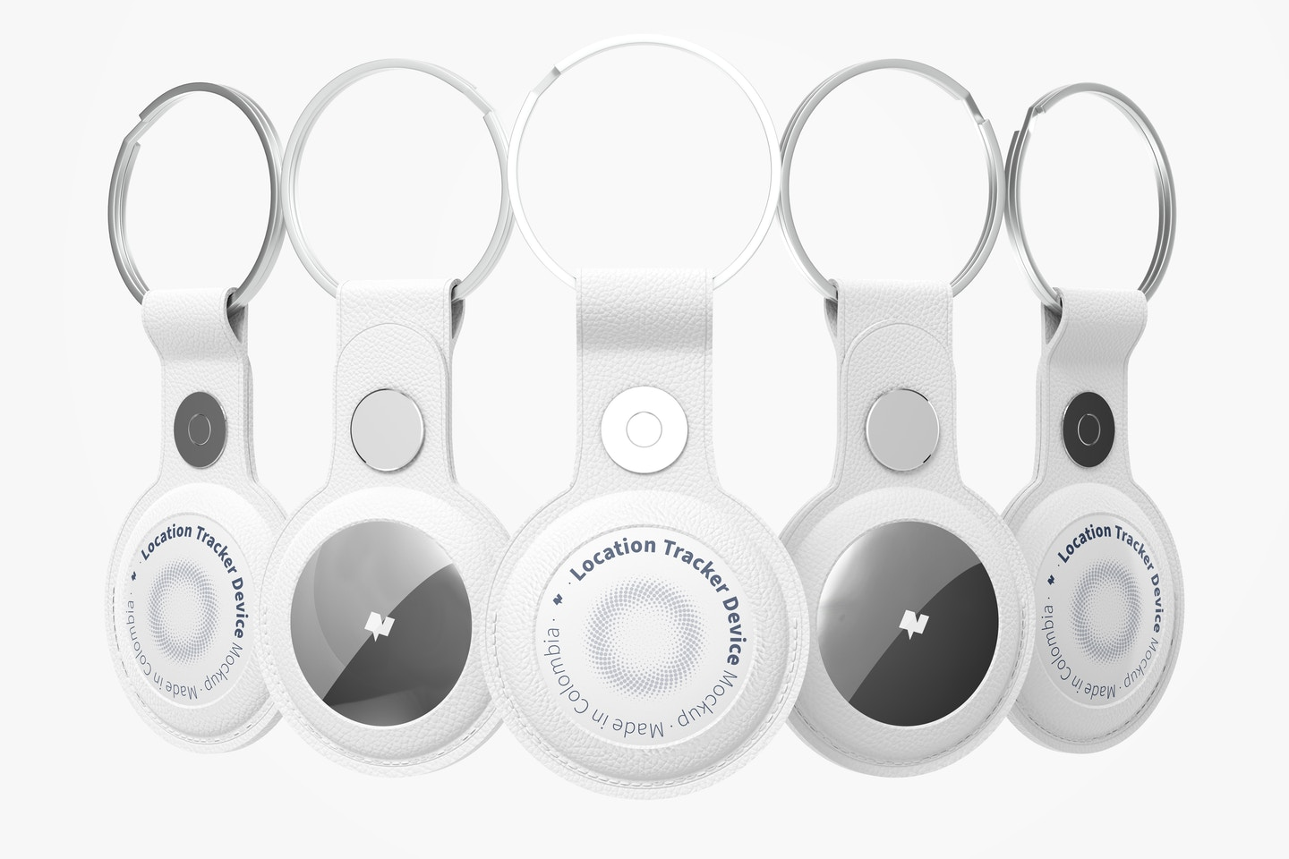AirTags with Keychain Set Mockup