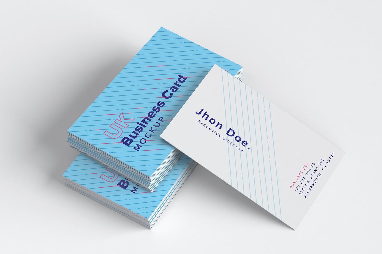 UK Business Cards Mockup 09