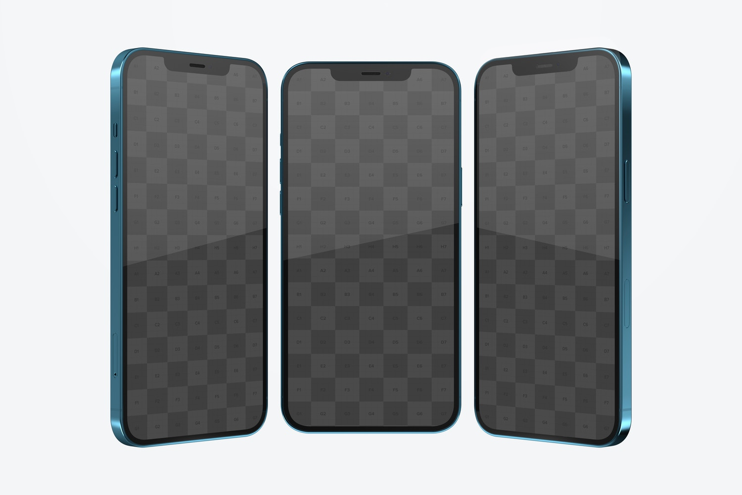 iPhone 12 Mockup, Front and Side View