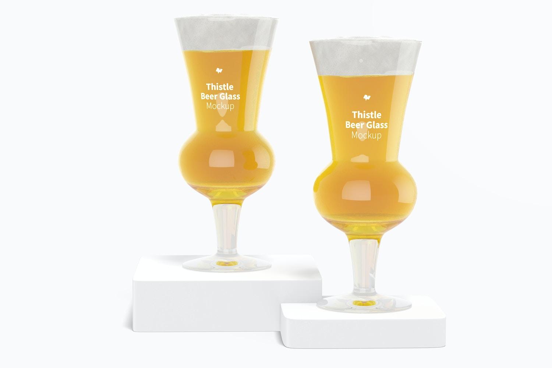 Thistle Beer Glasses Mockup