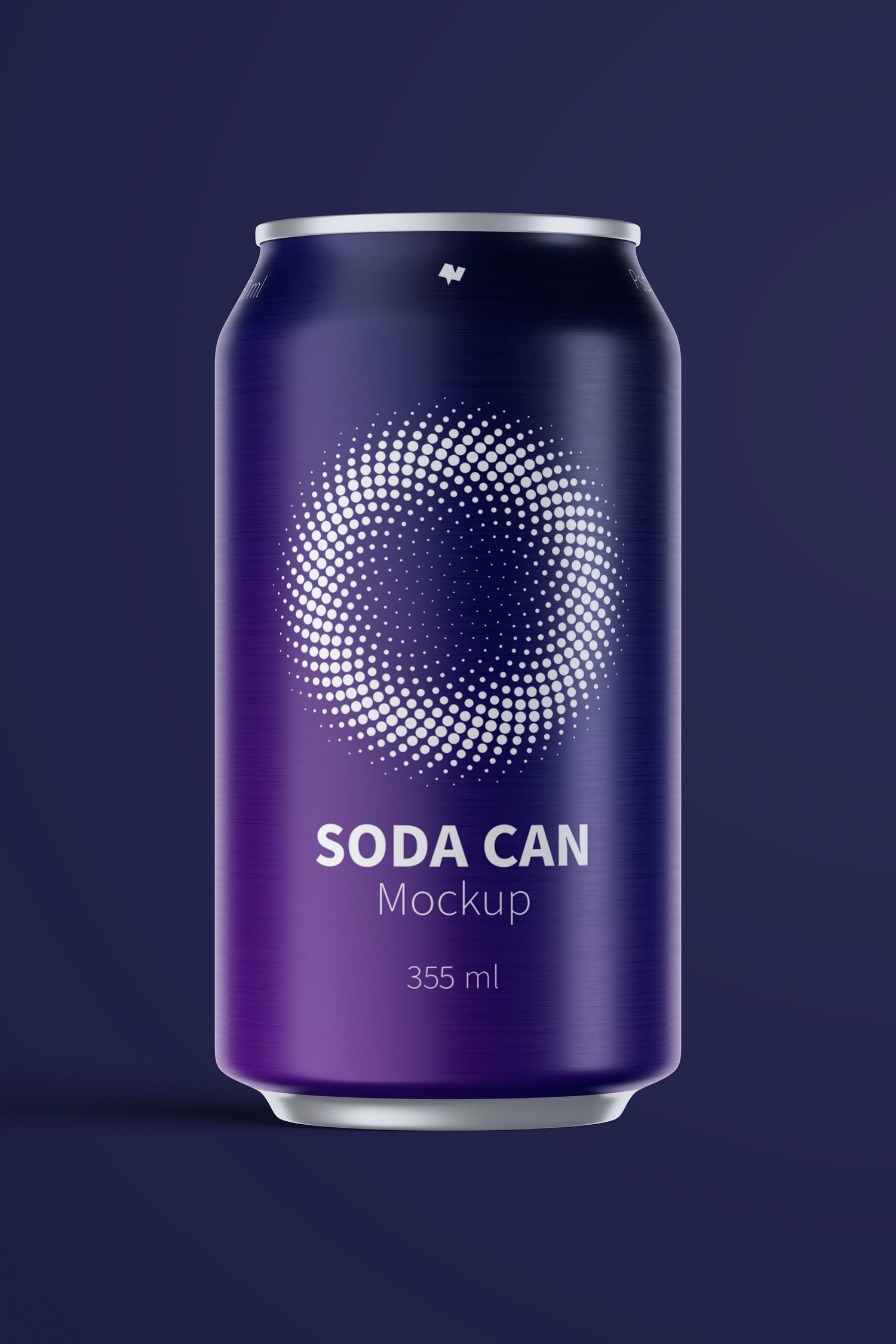 355 ml Soda Can Mockup, Front View