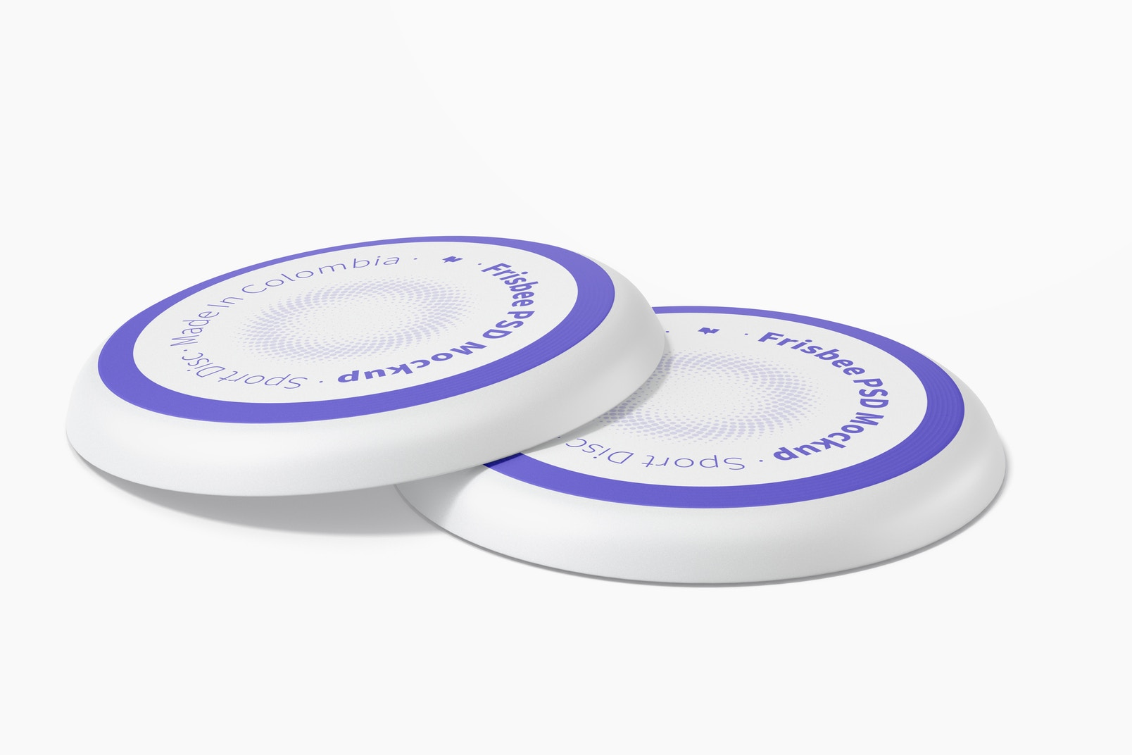 Frisbees Mockup, Perspective View