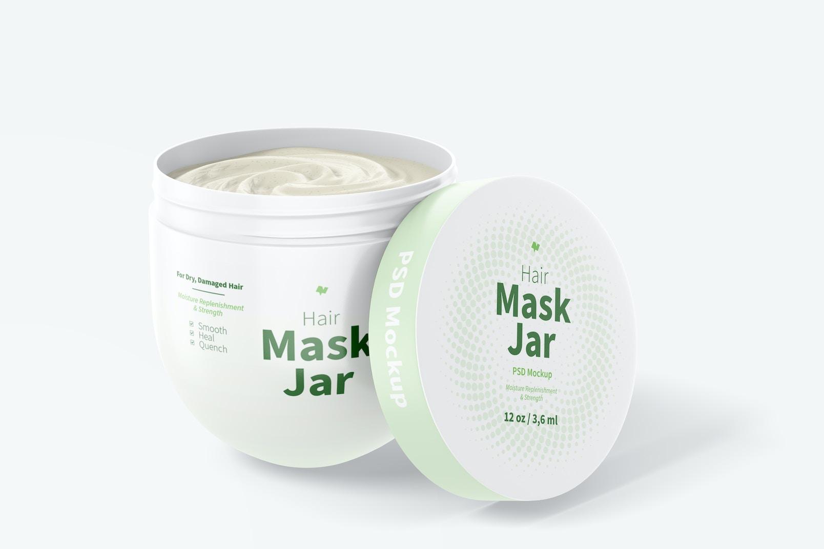 Hair Mask Jar Mockup