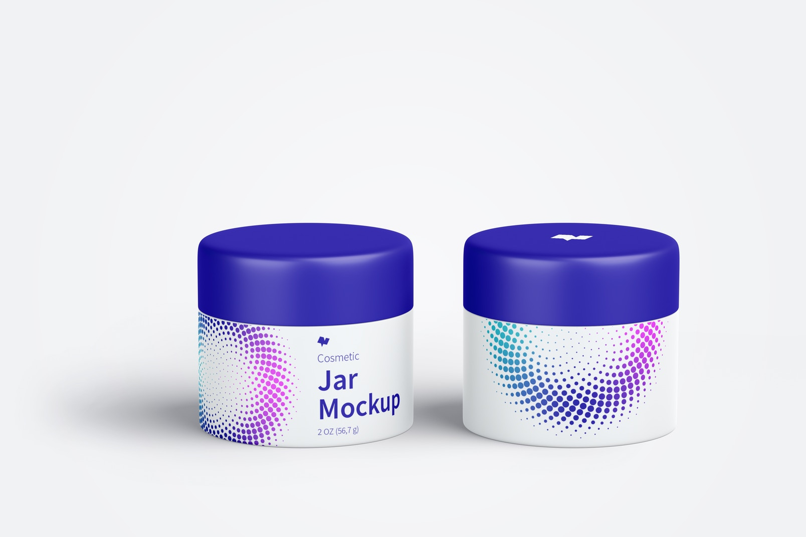 Cosmetic Jar Mockup, Front View 03
