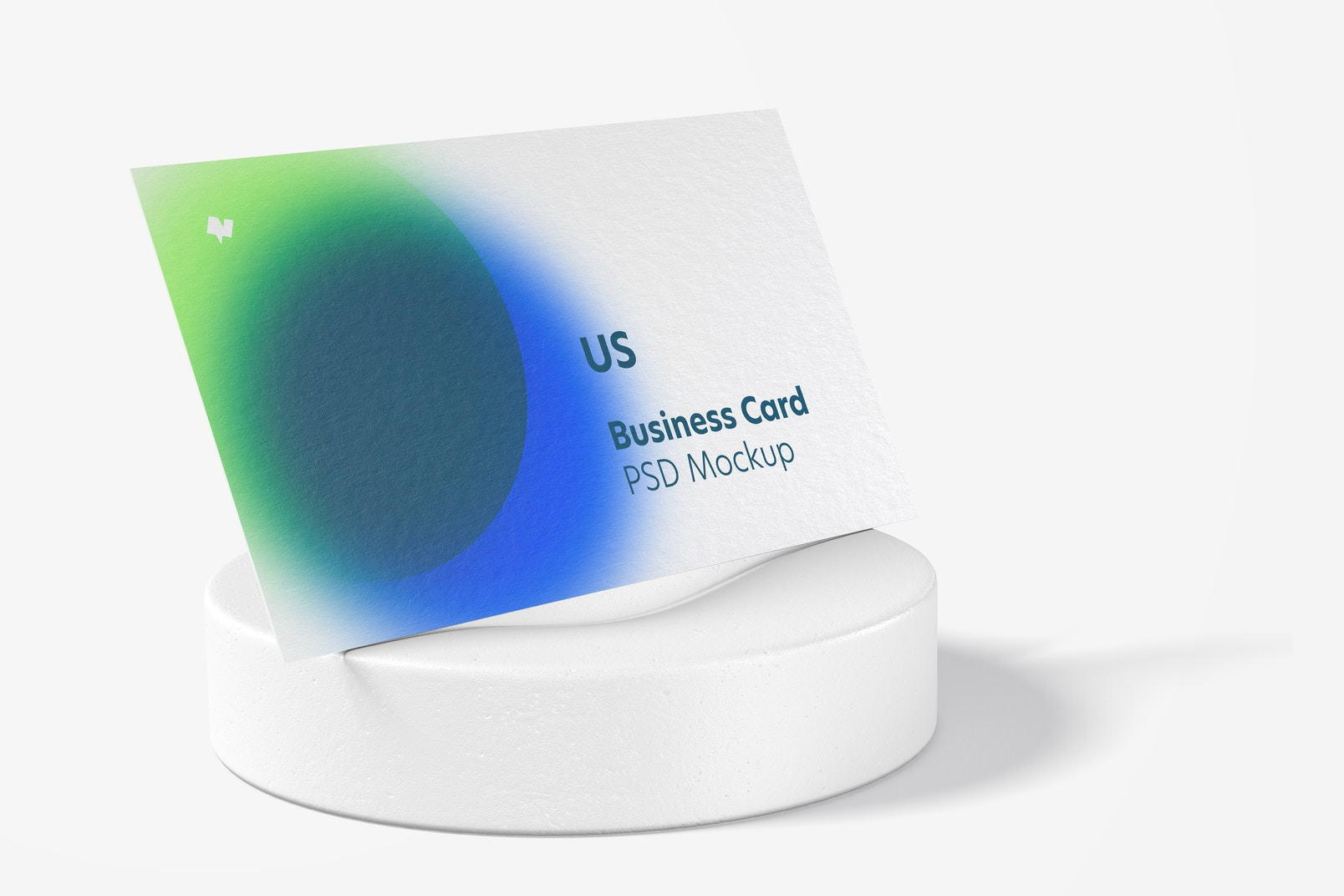 US Landscape Business Card Mockup, Perspective View