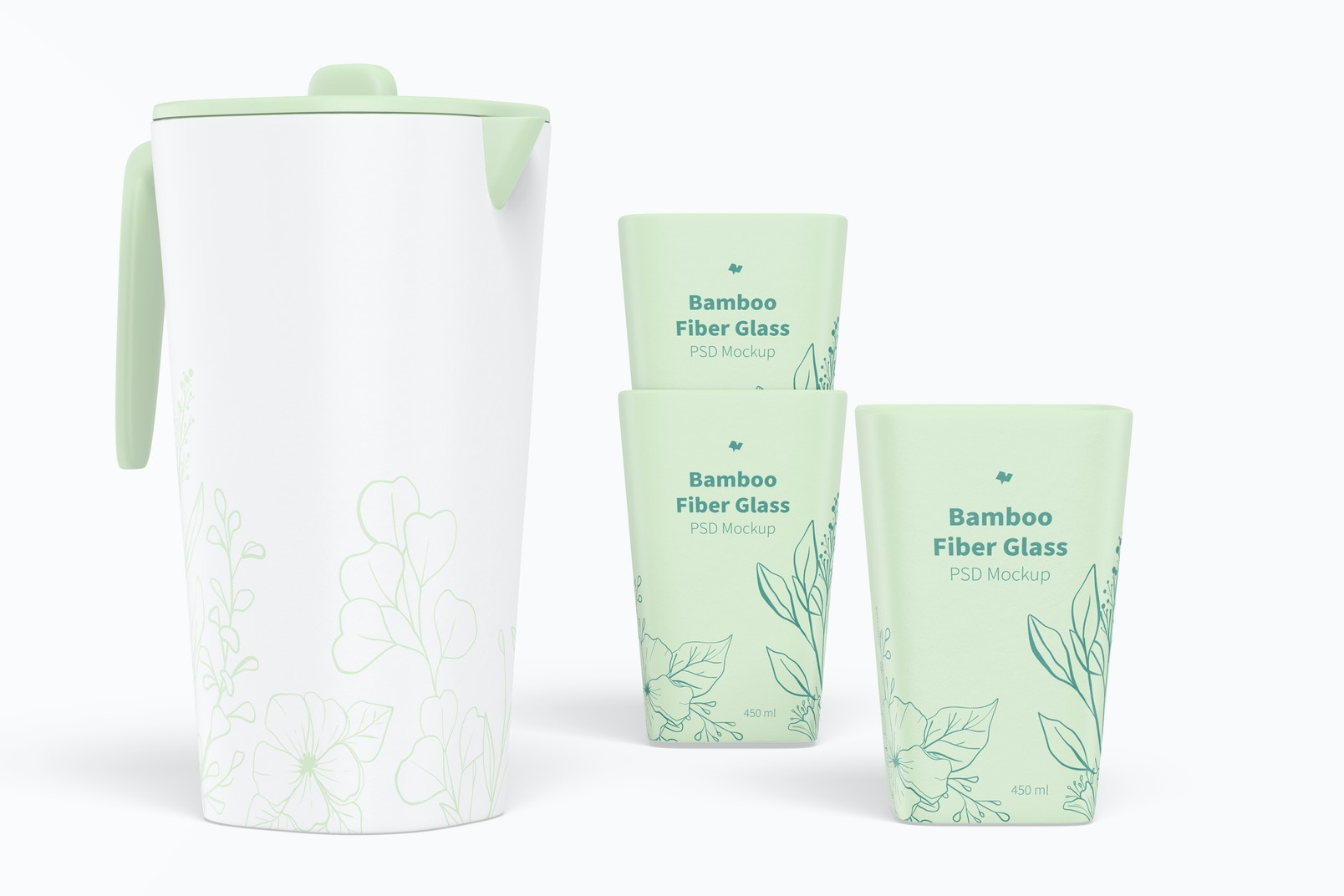 450 ml Bamboo Fiber Glasses Mockup