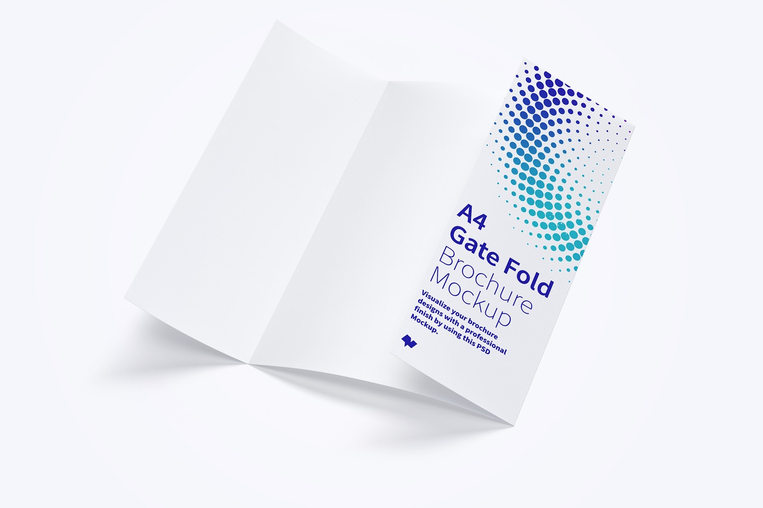 A4 Gate Fold Brochure Mockup 02 by Original Mockups on Original Mockups