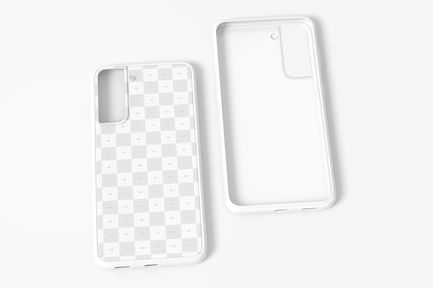 Samsung S21 Cases Mockup, Front and Back View