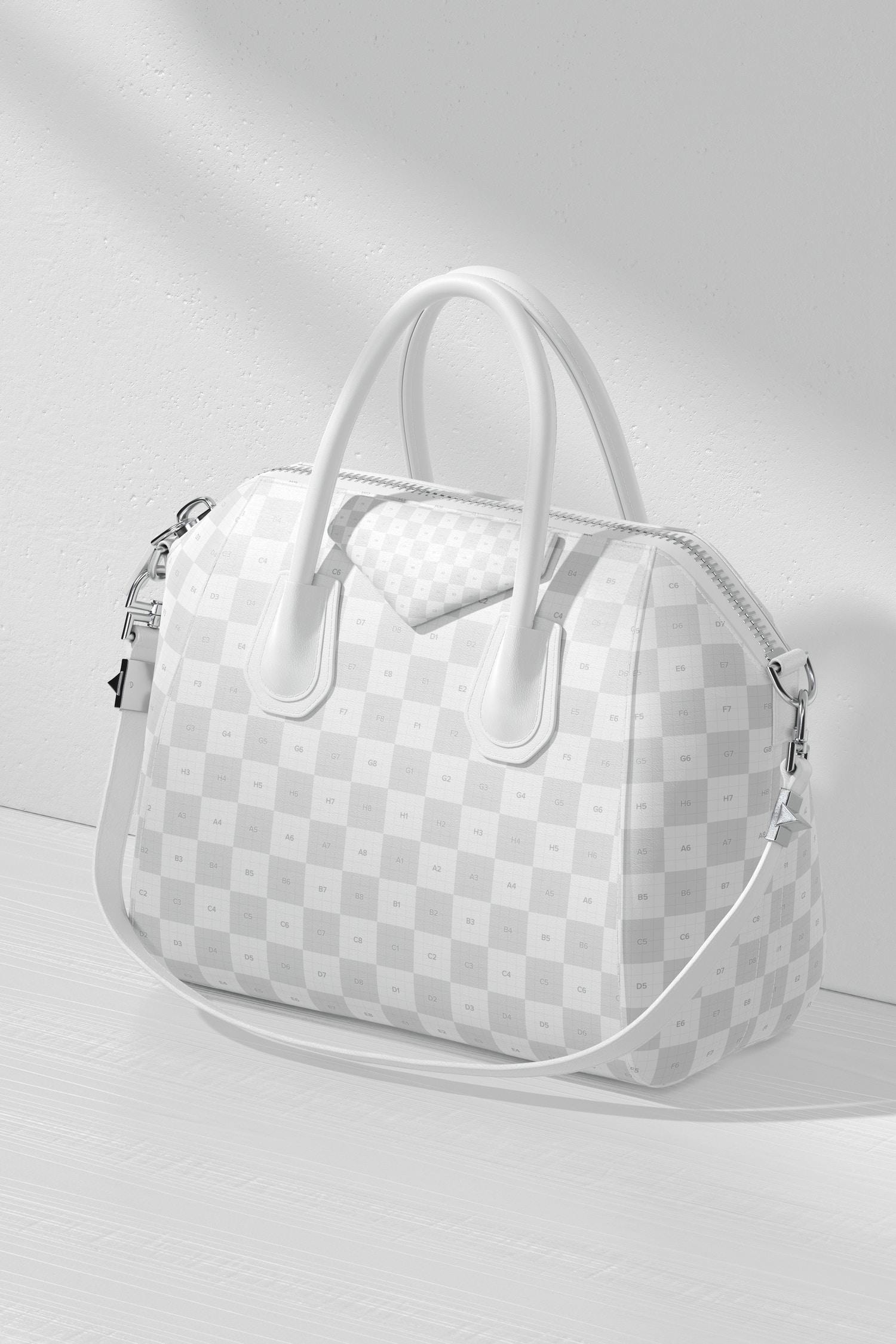 Women's Leather Bag Mockup, Perspective