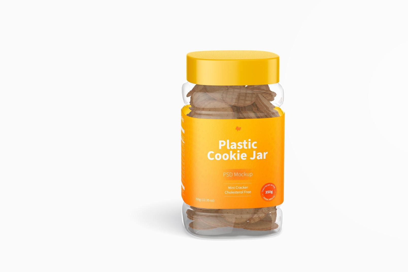 Plastic Cookie Jar Mockup