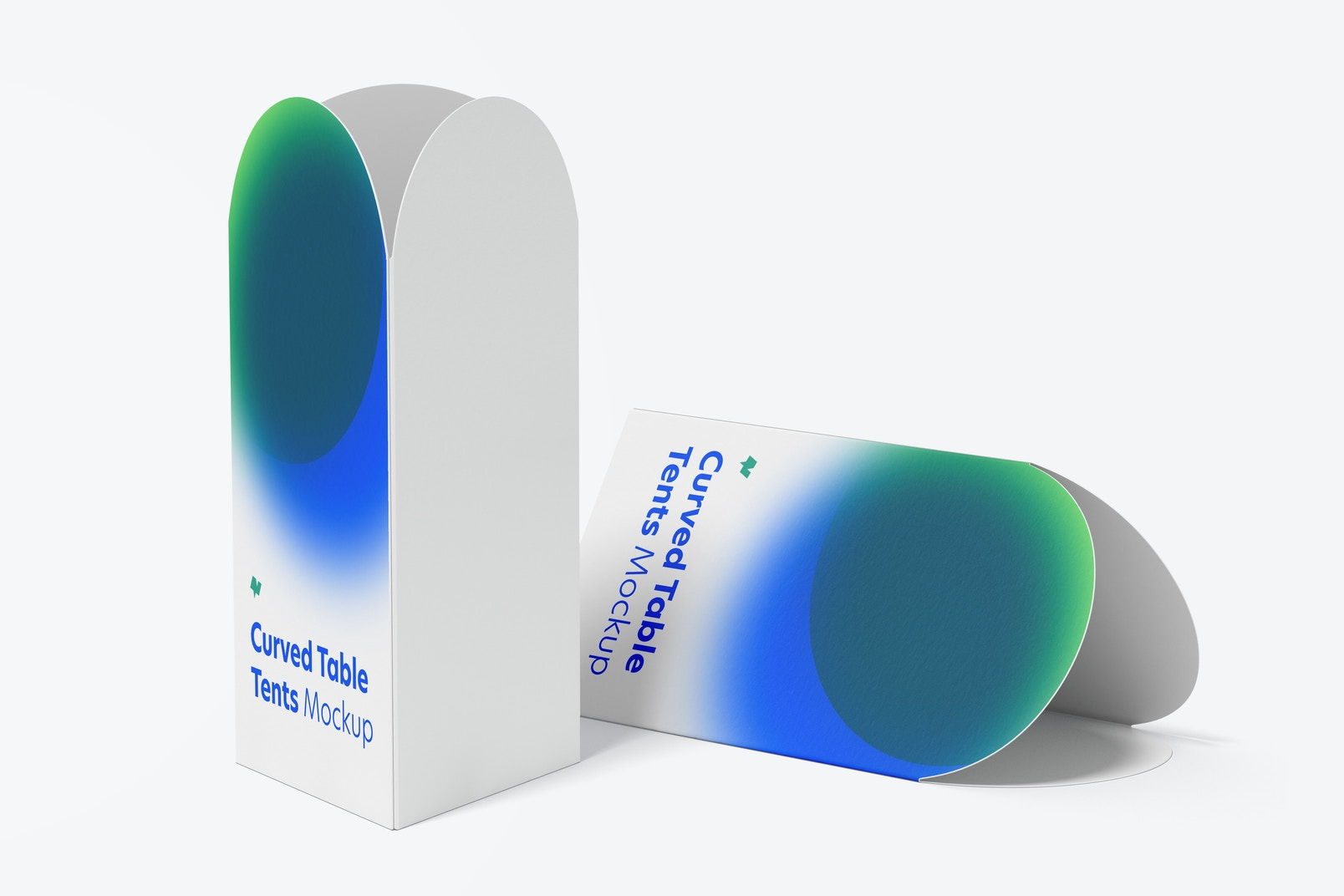 Curved Top Table Tents Mockup