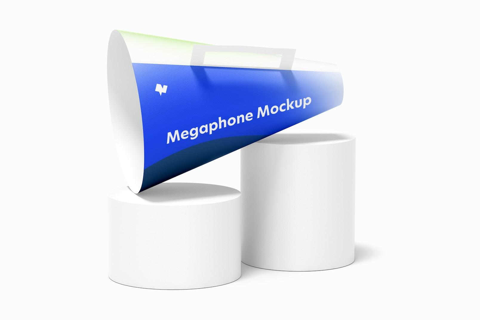 Paper Megaphone Mockup, Perspective