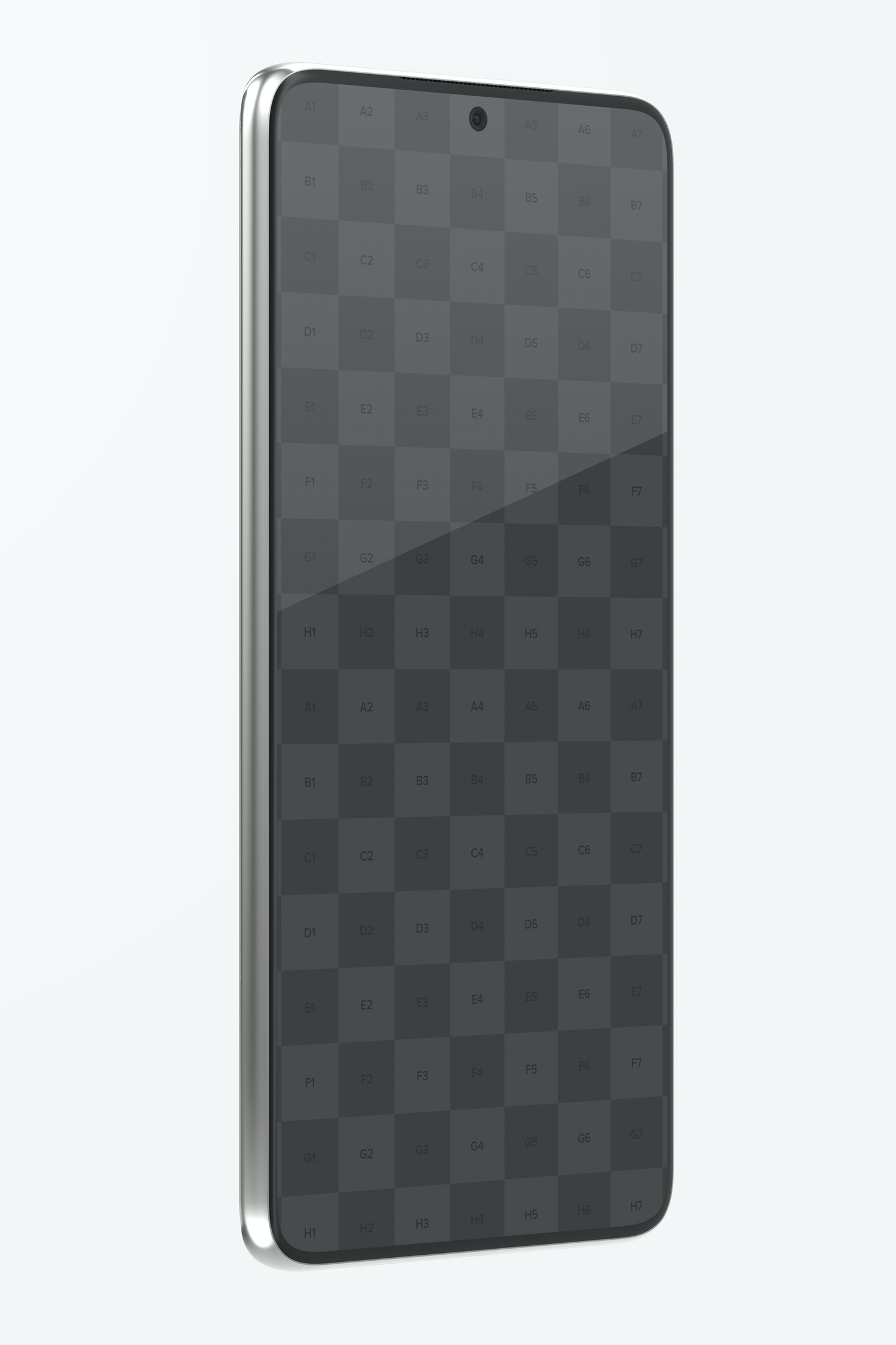 Samsung S21 Mockup, Right Side View