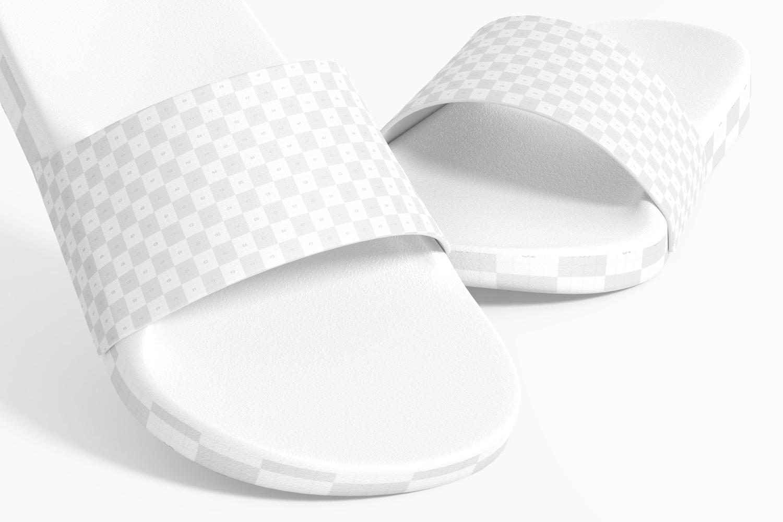 Slide Sandals Mockup, Close-Up