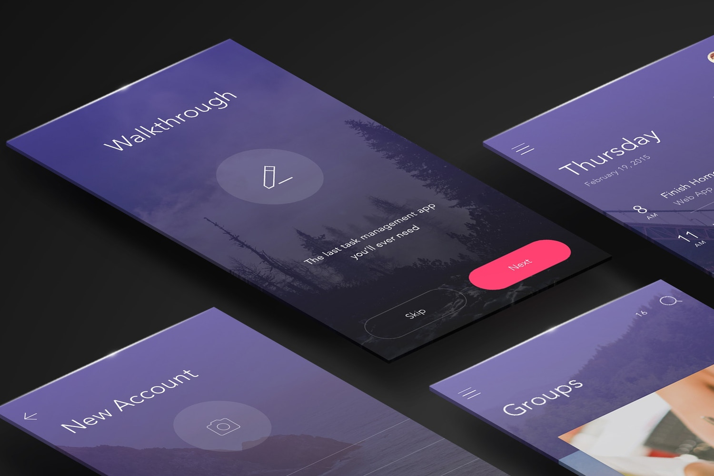 Perspective App Screens Mockup 01