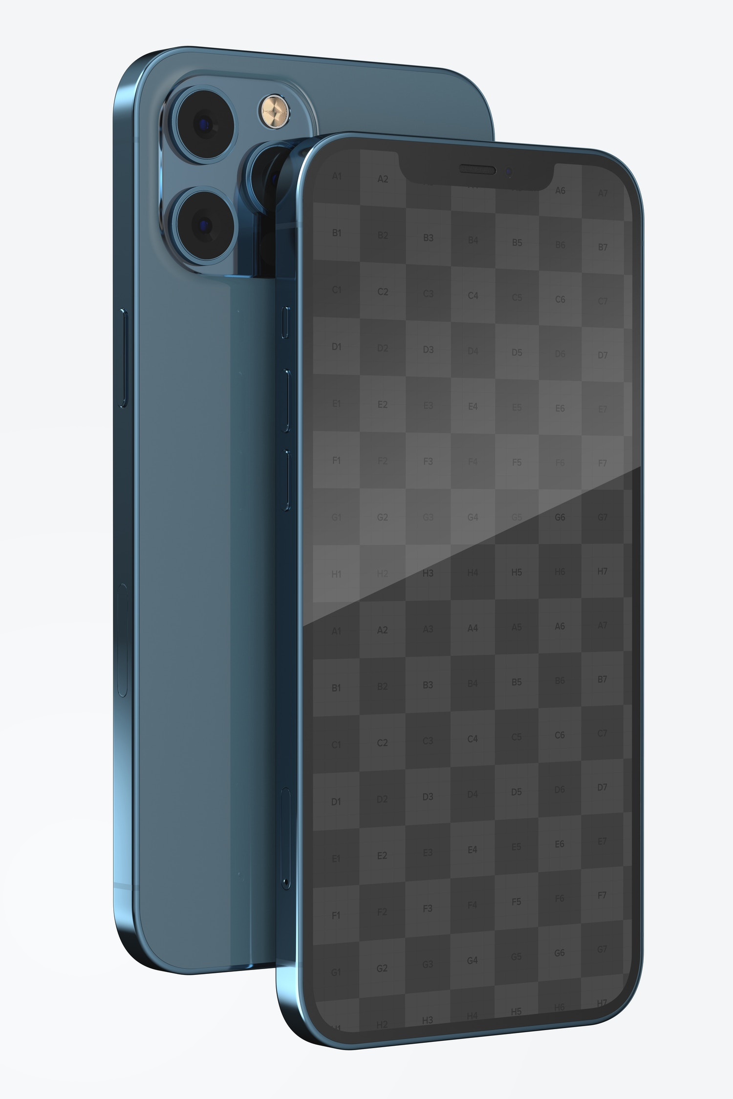 iPhone 12 Mockup, Front and Back View
