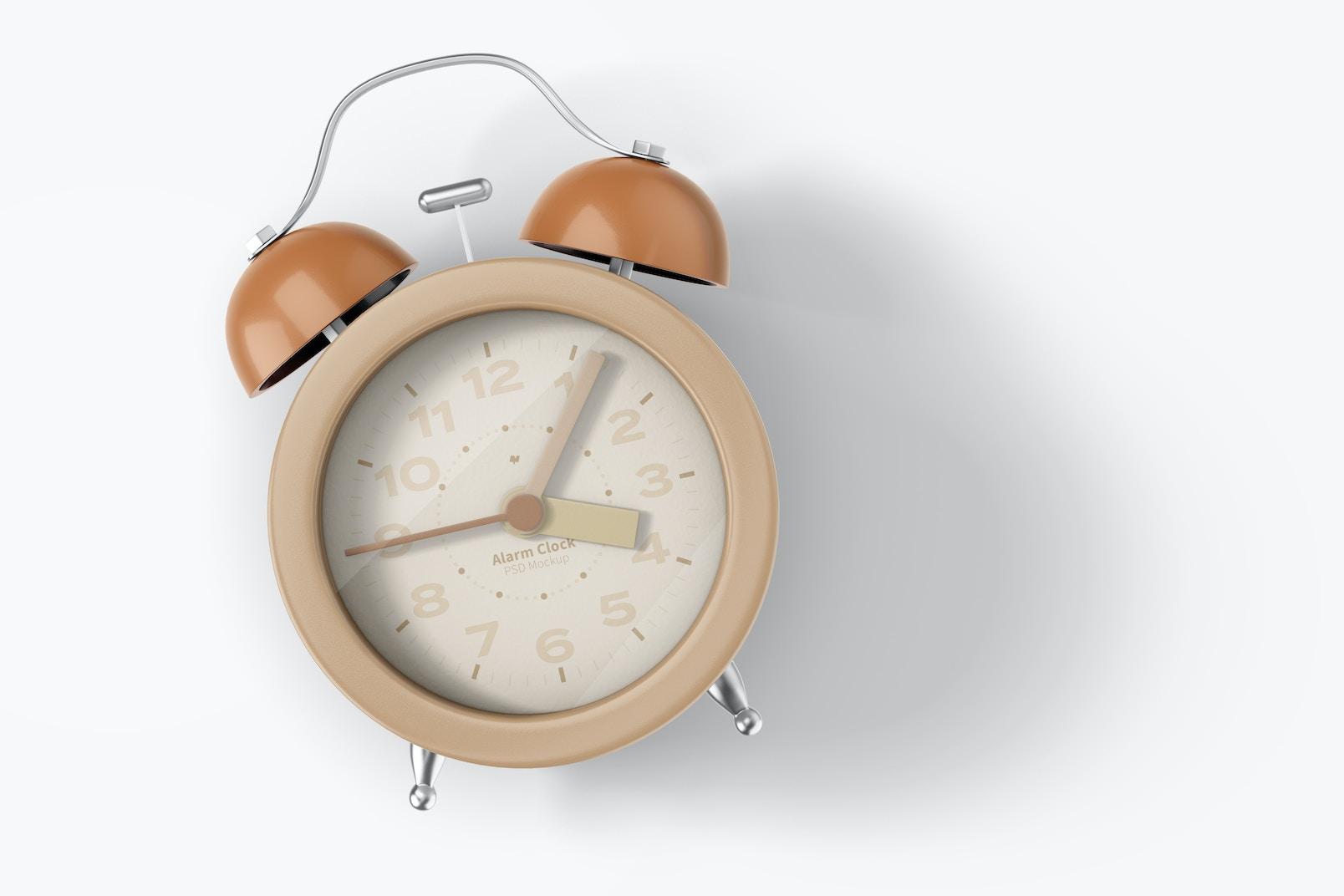 Alarm Clock Mockup, Top View