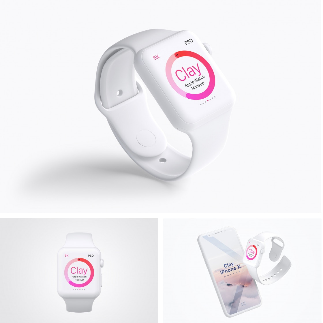Clay Apple Watch Mockups by Original Mockups on Original Mockups