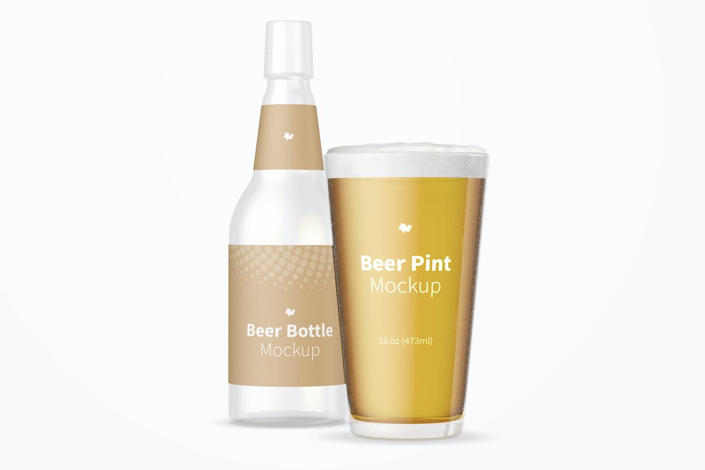 16 oz Beer Pint Mockup