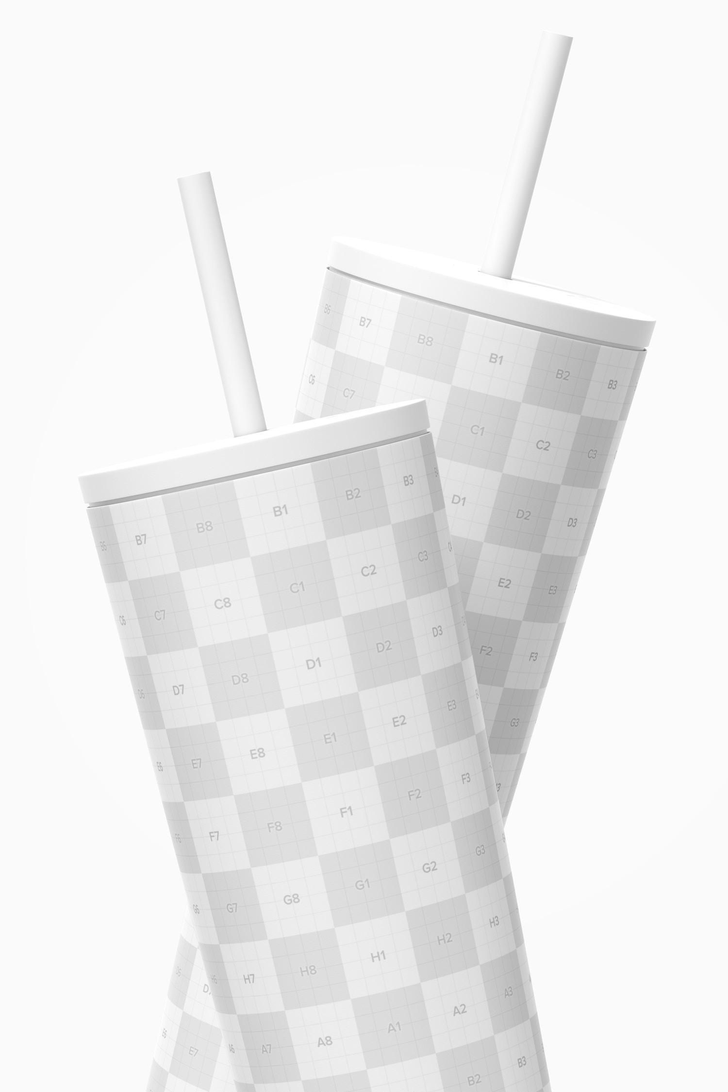 Travel Mug Cup Mockup, Close Up
