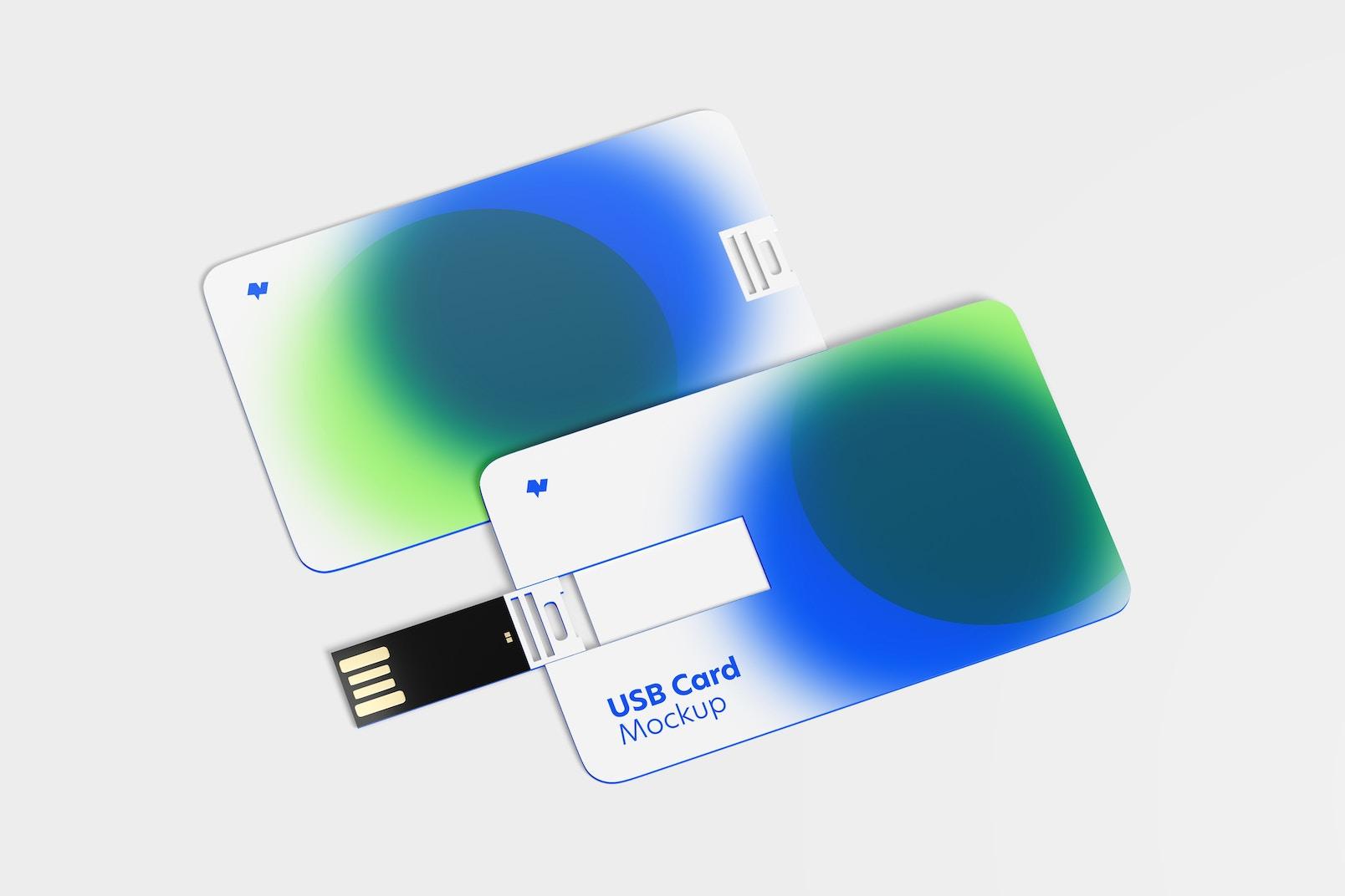 USB Cards Mockup