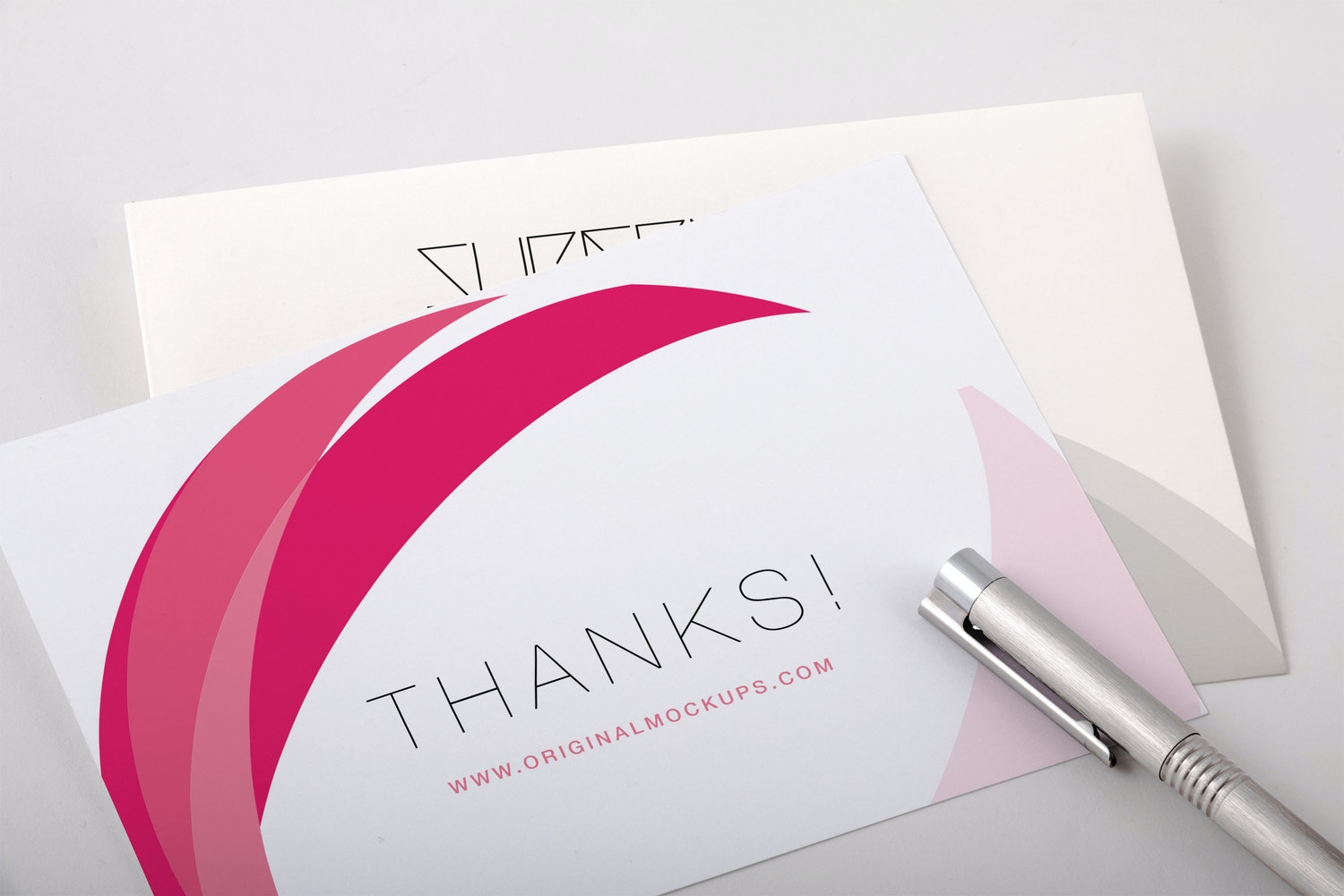 Thank You Card PSD Mockup 02 by Original Mockups on Original Mockups