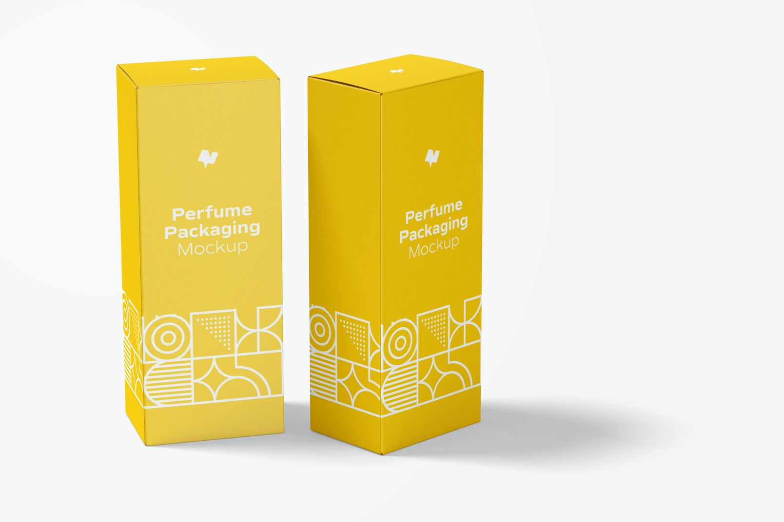 Large Perfume Packaging Mockup, Perspective