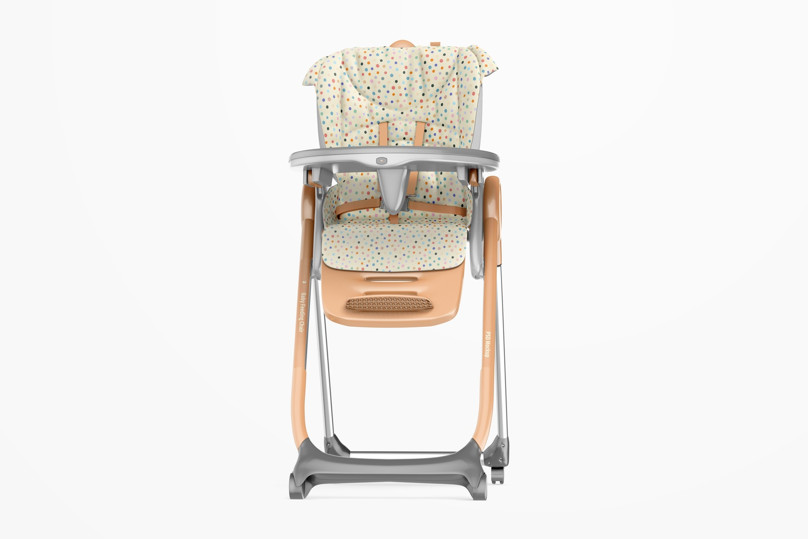 Baby Feeding Chair Mockup, Front View