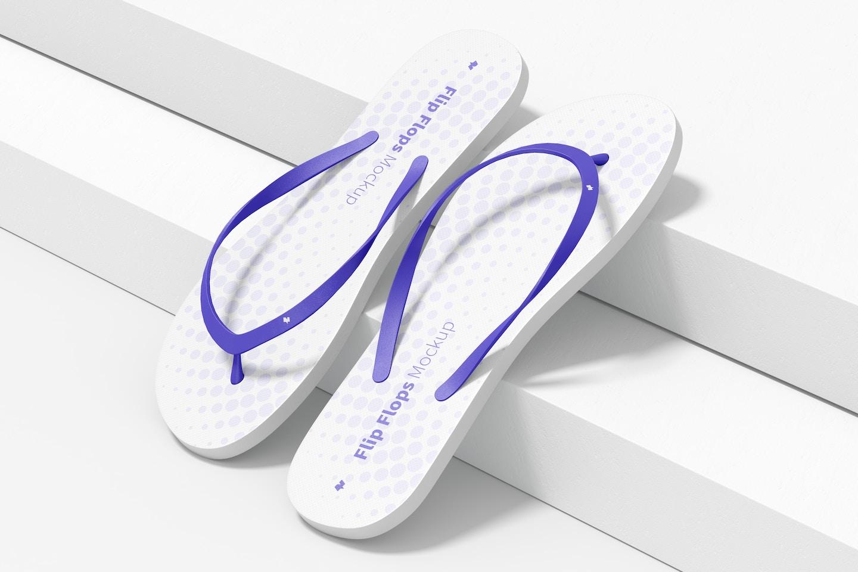Flip Flops Mockup, Right View