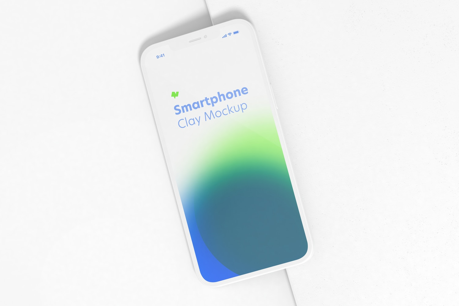 Clay iPhone 12 Mockup, Perspective