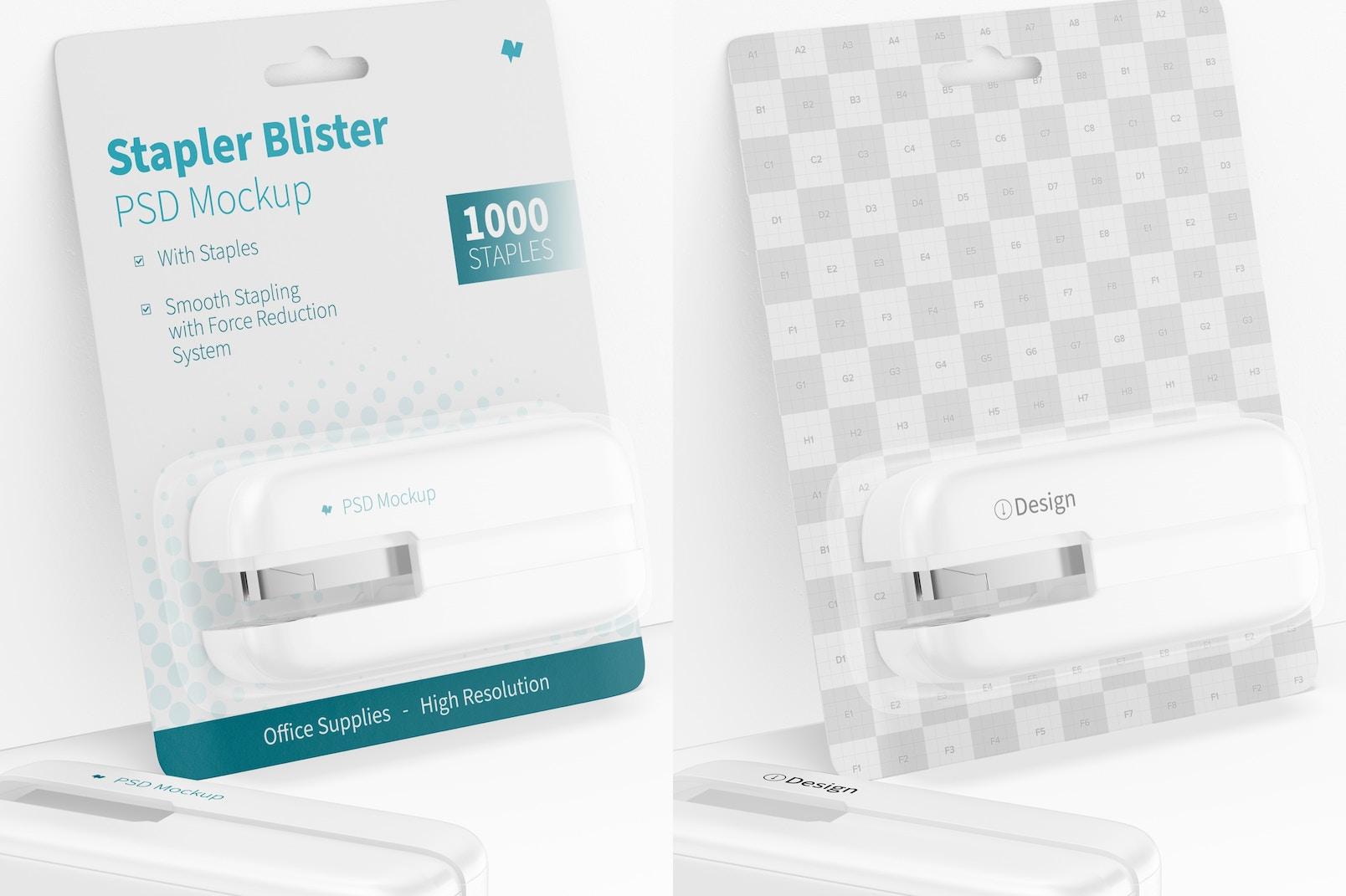 Stapler Blister Mockup, Leaned