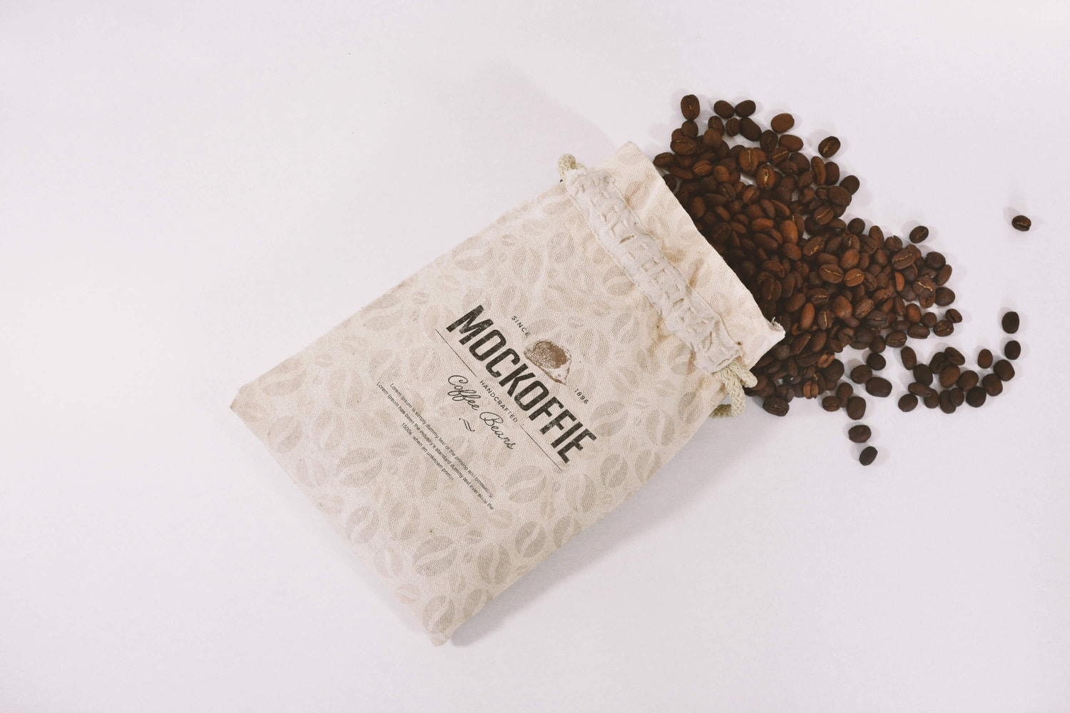 Jute Coffee Bag Mockup by Eduardo Mejia on Original Mockups