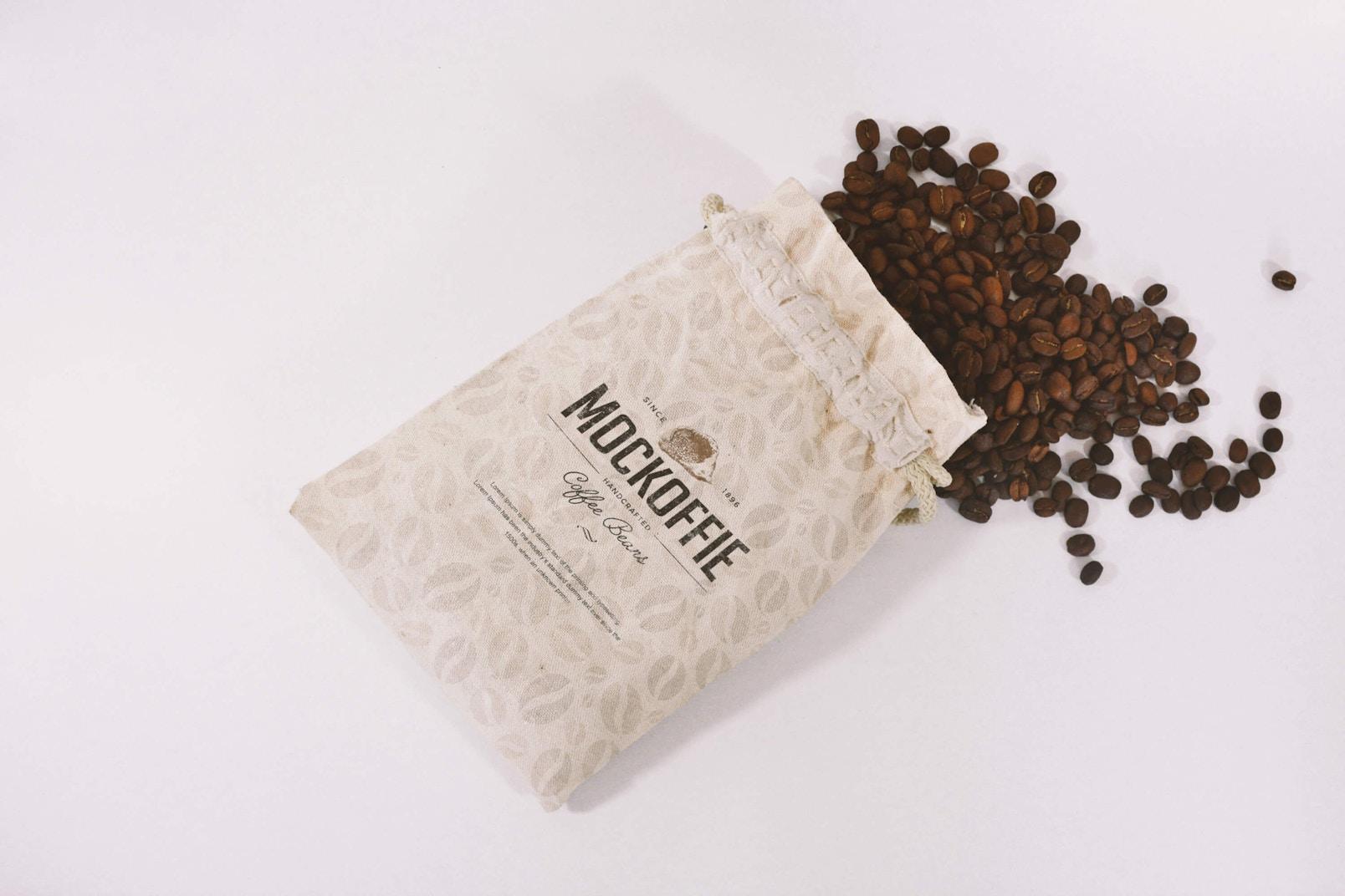 Jute Coffee Bag Mockup