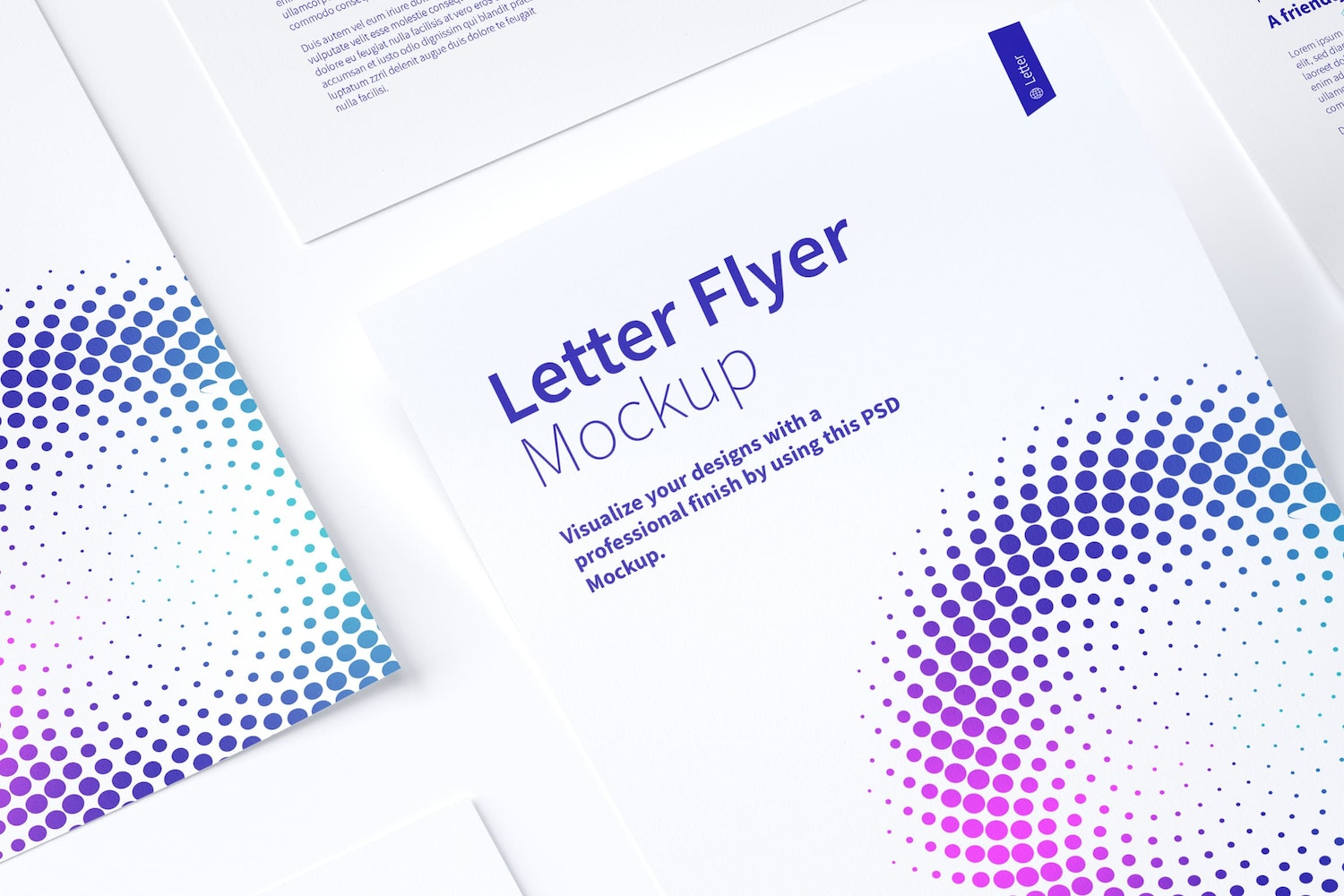 Letter Flyer Mockup 02 (4) by Original Mockups on Original Mockups
