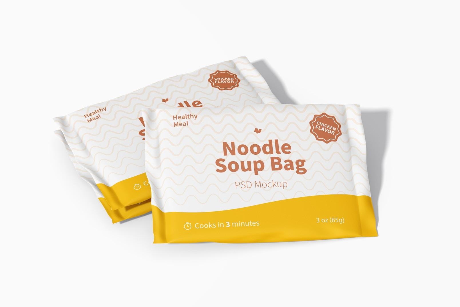Noodle Soup Bags Mockup
