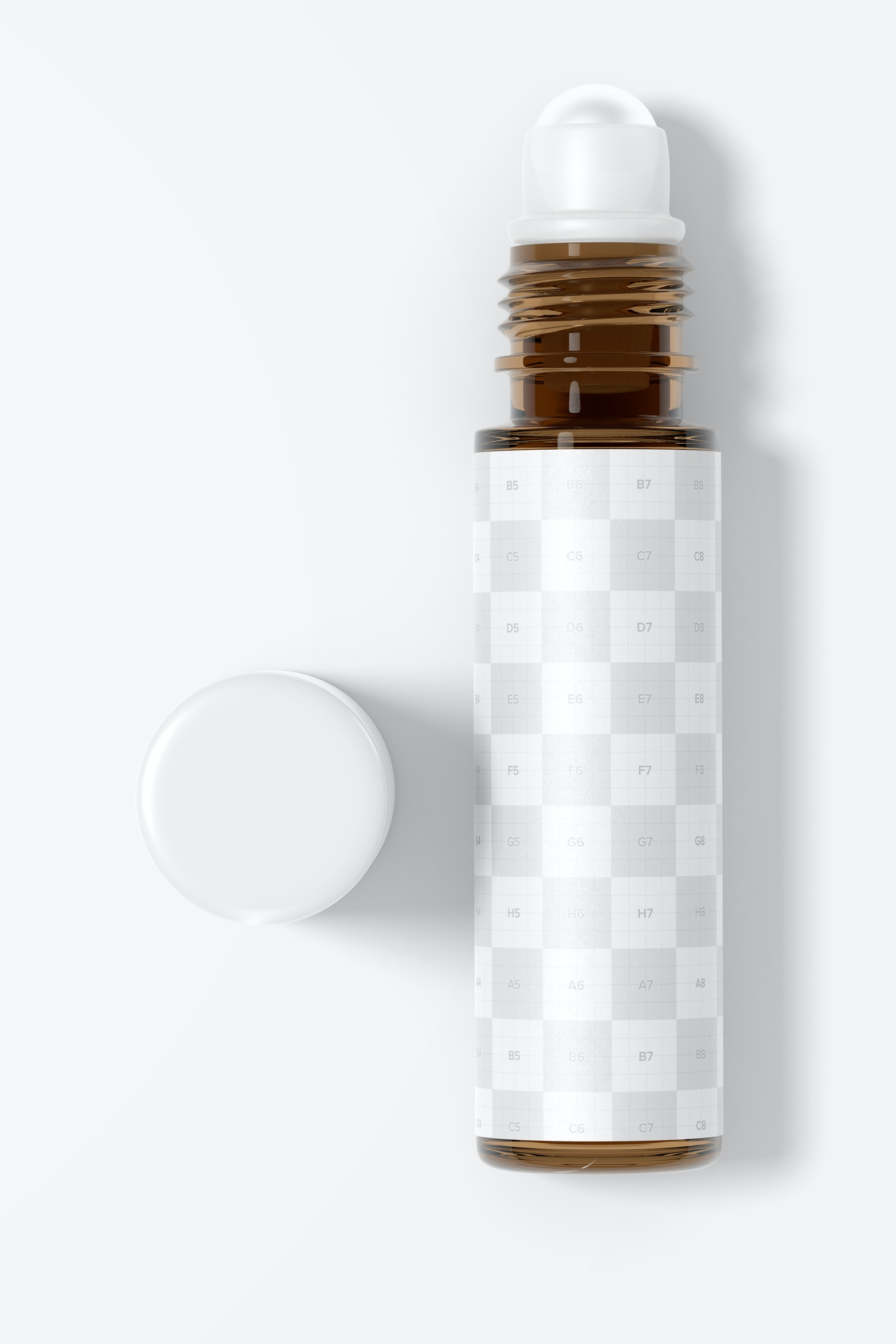 10 ml Roller Bottle Mockup, Top View