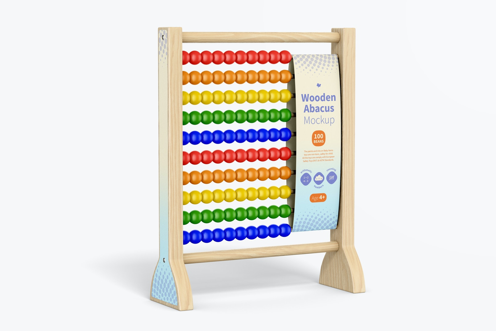 Wooden Abacus Mockup