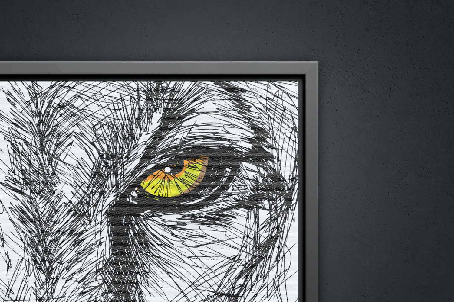 2:3 Portrait Canvas Mockup in Floater Frame, Front View