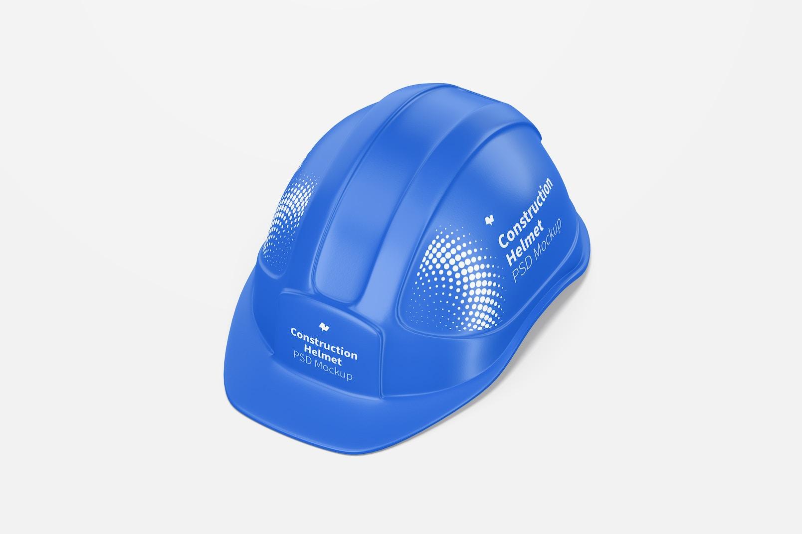 Construction Helmet Mockup, Perspective View