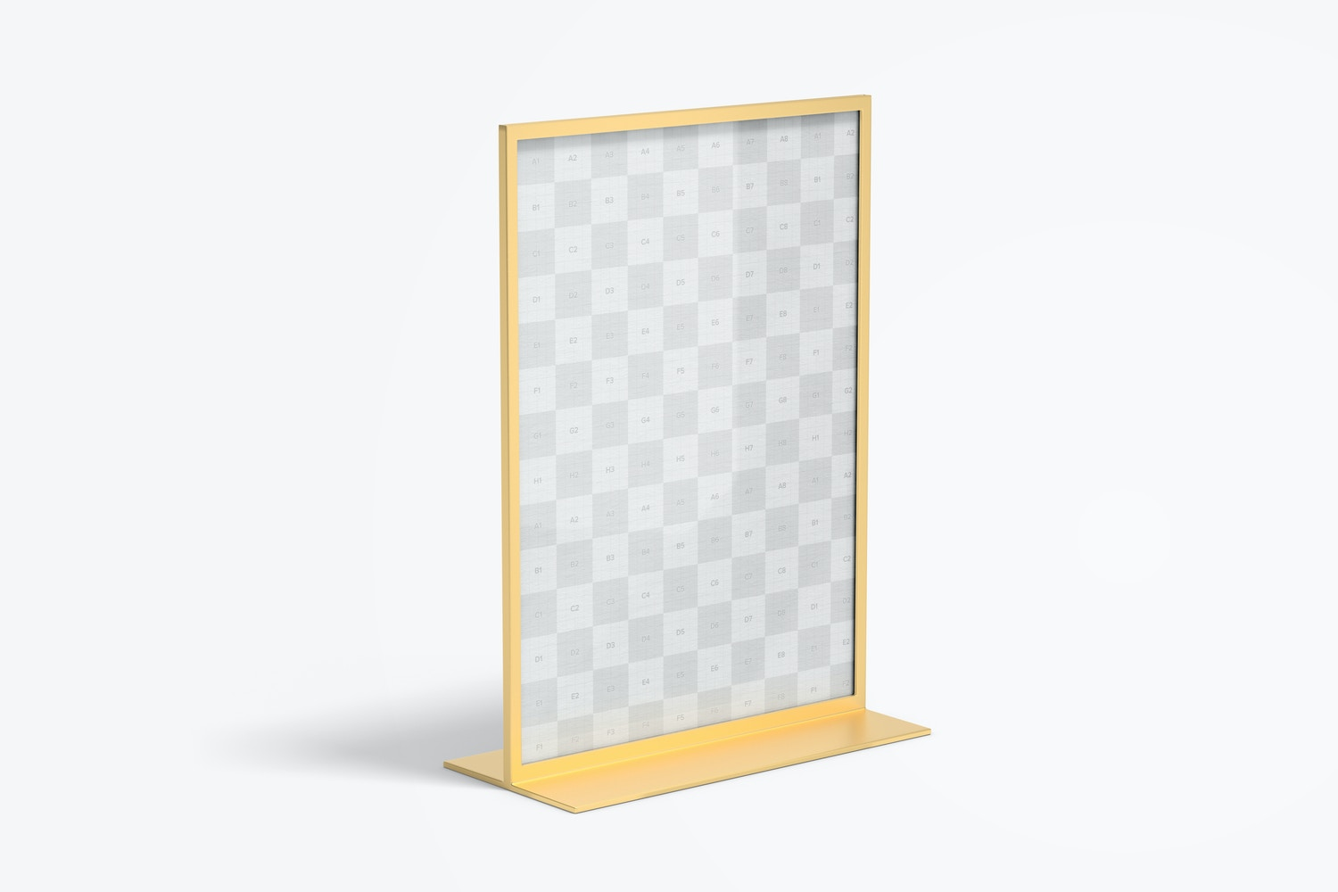 Double-Sided Poster Metal Desktop Display Mockup, Right View