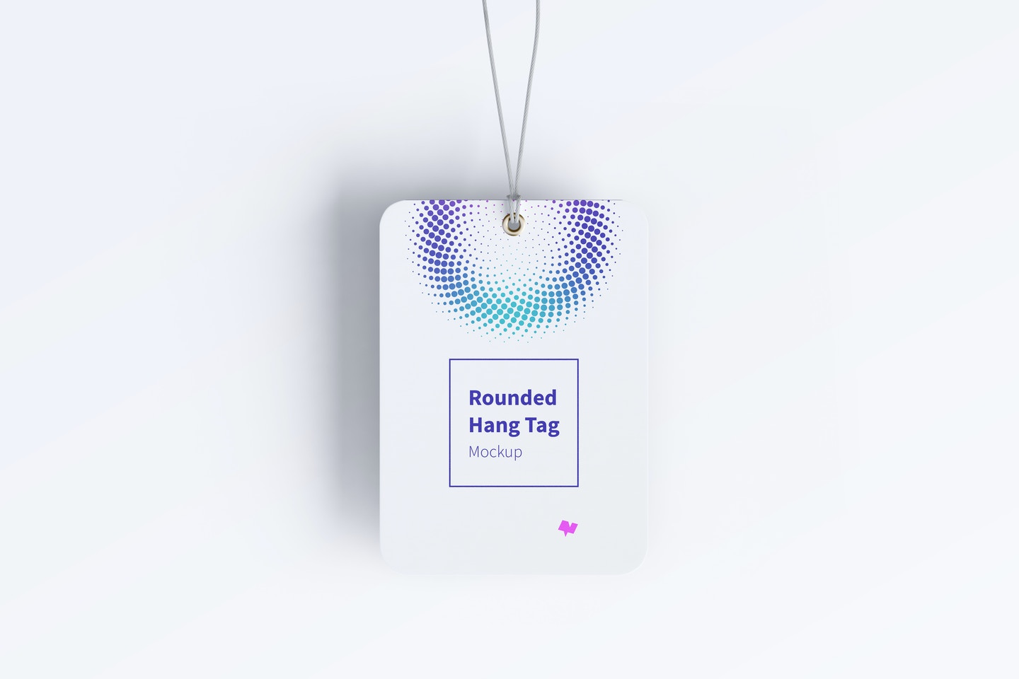 Rounded Hang Tag Mockup with String