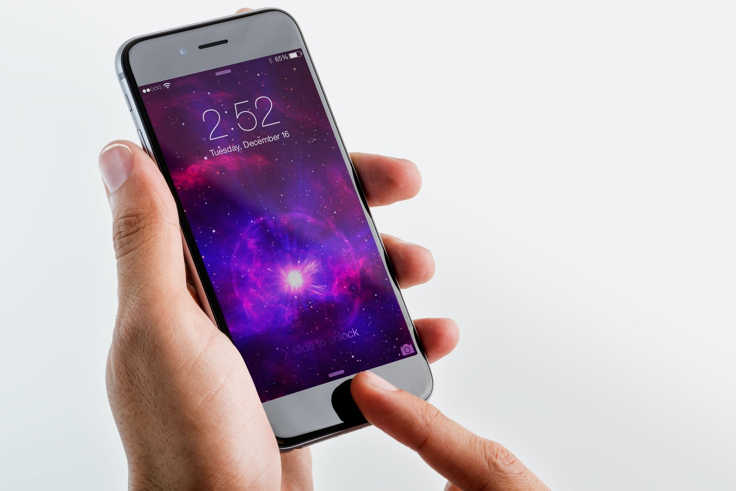 Iphone 6 Spacegray PSD Mockup 03 by Original Mockups on Original Mockups