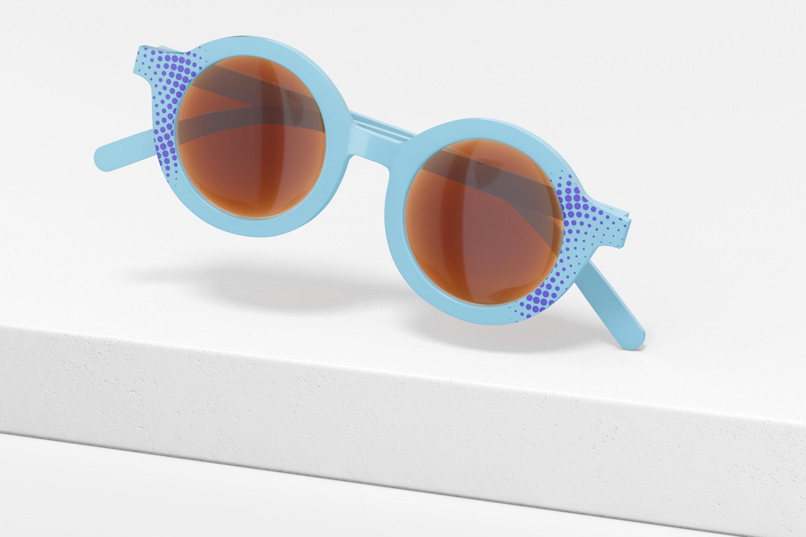 Kids Sunglasses Mockup, Falling