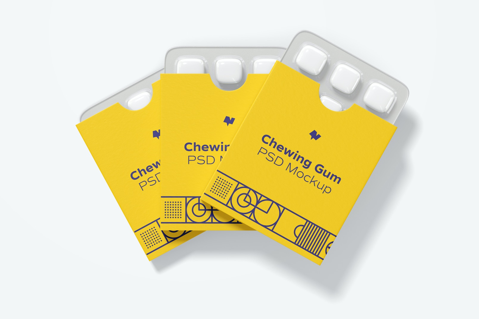Chewing Gum Packaging Set Mockup