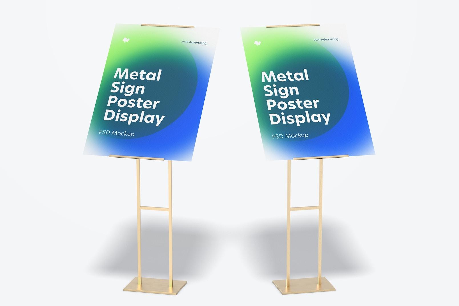 Metal Signs Poster Floor Display Mockup