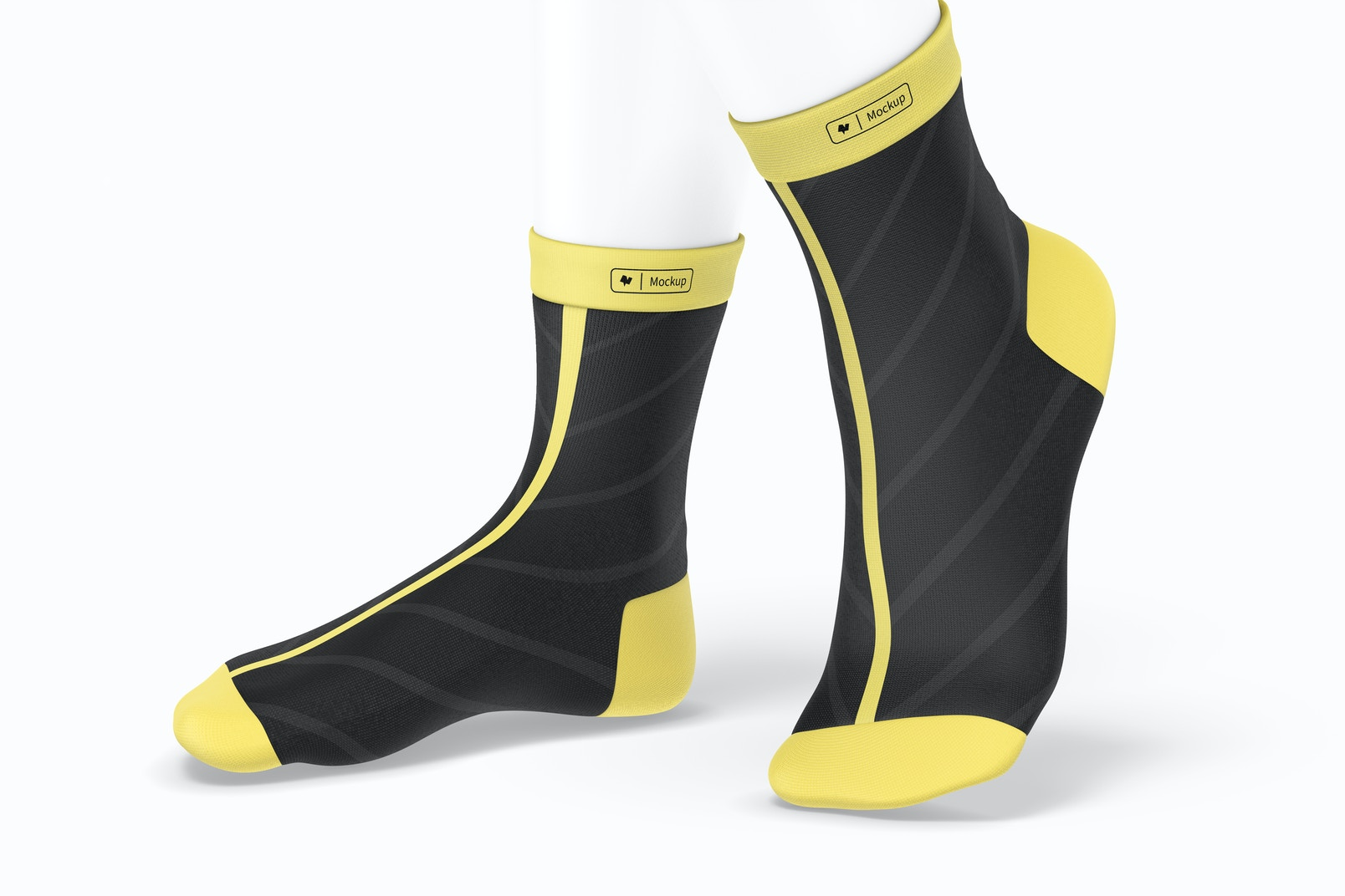 Sports Cycling Socks Mockup, Right View