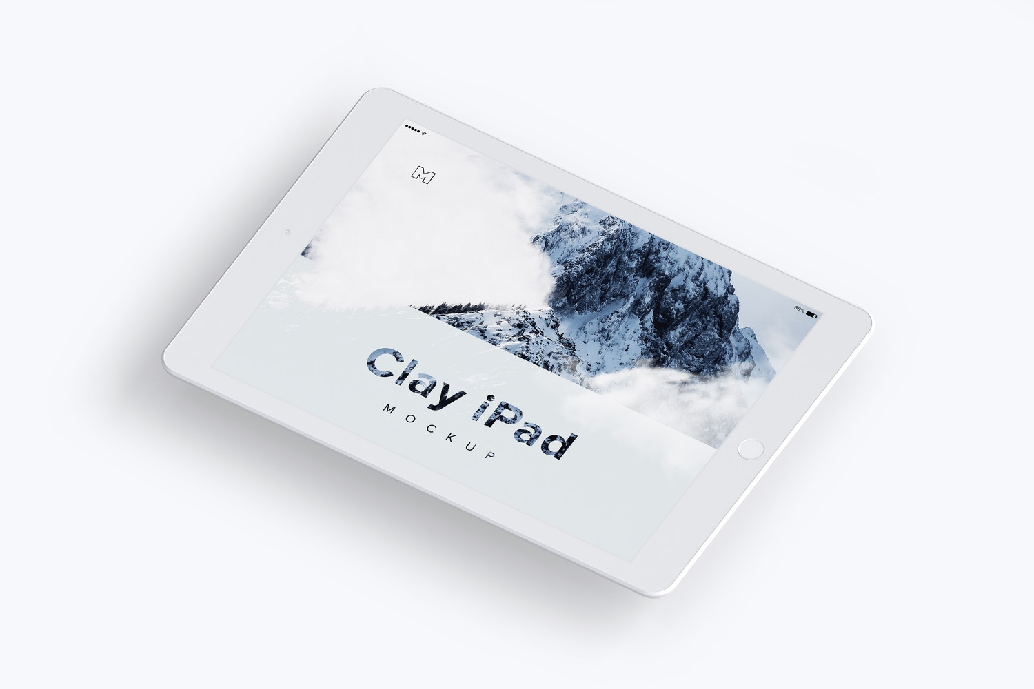 Clay iPad 9.7 Mockup 02 by Original Mockups on Original Mockups