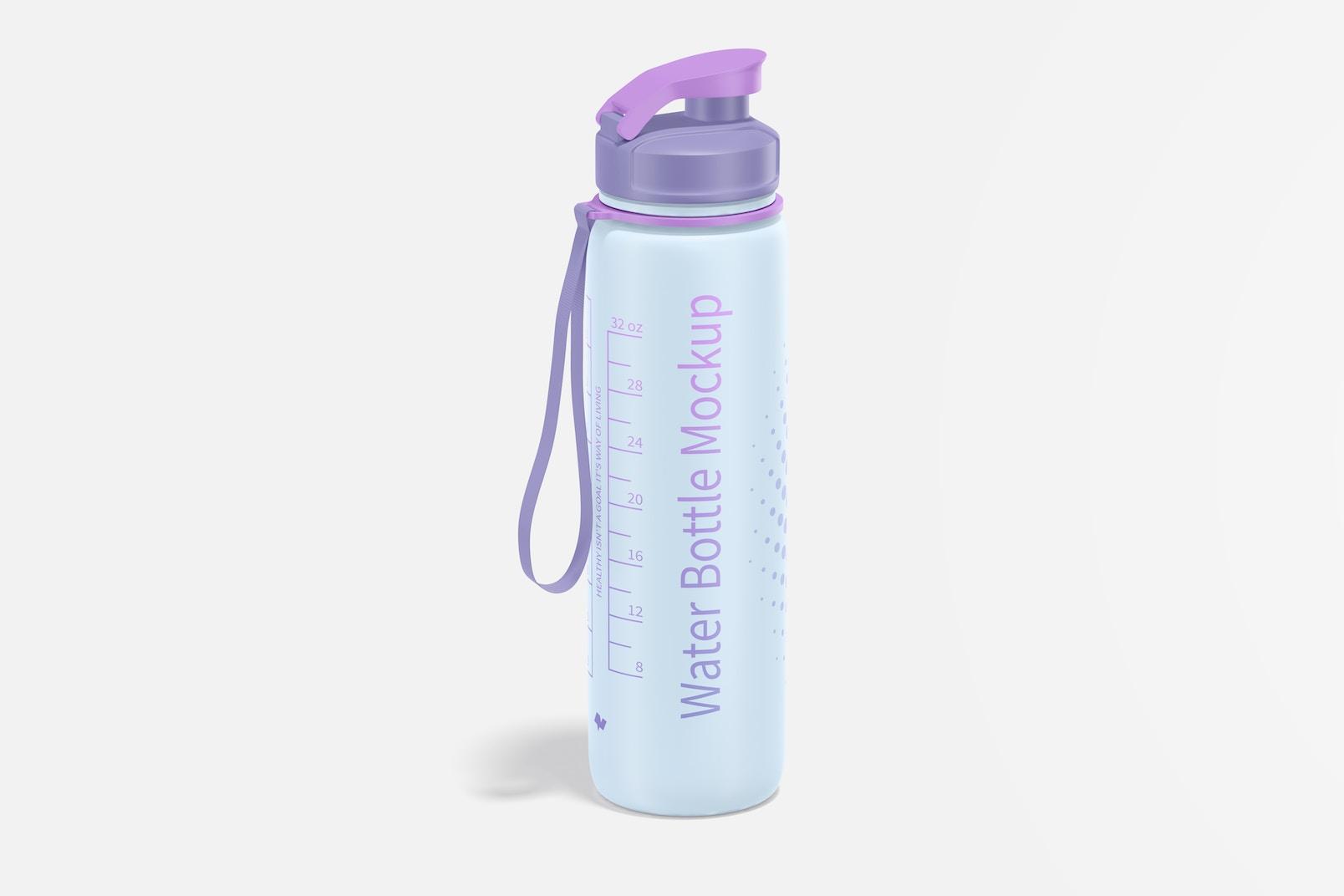 32 oz Water Bottle Mockup