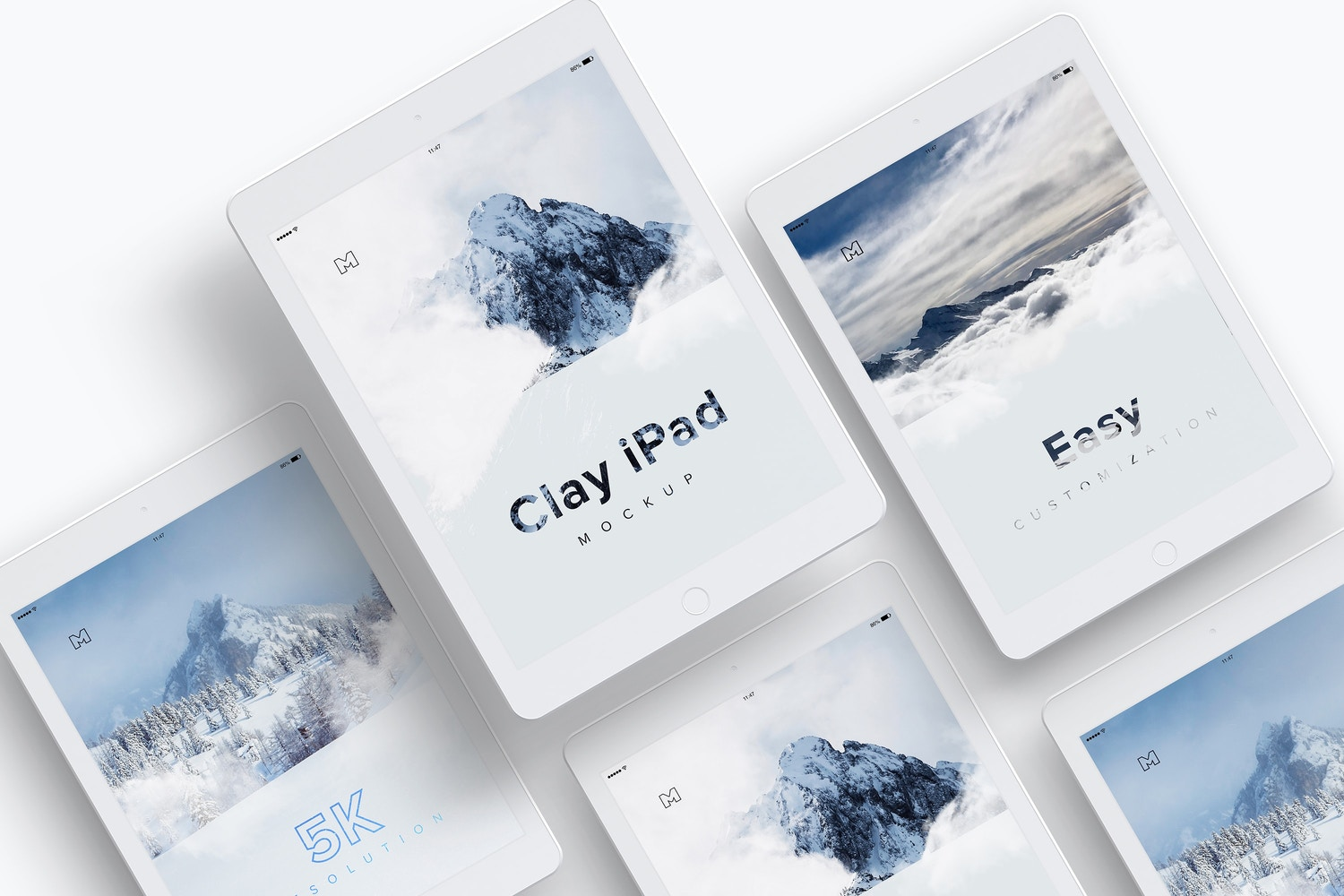 Clay iPad 9.7 Mockup 07 by Original Mockups on Original Mockups