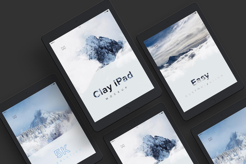 Clay iPad 9.7 Mockup 07 by Original Mockups on Original Mockups